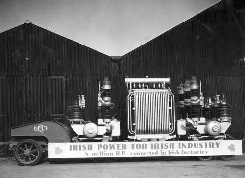80-ton Rogers trailer, with main system transformers and switchgear